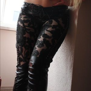 Kultchen Studded Lorelei Lace Pants